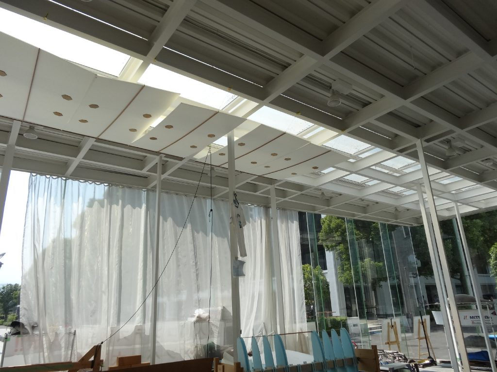 KAIT Ad-hocs that occupants installed to attenuate the high daylight