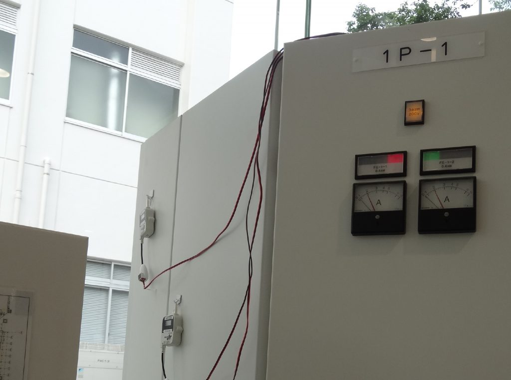 KAIT Electricity meters monitoring the AC operation and consumption