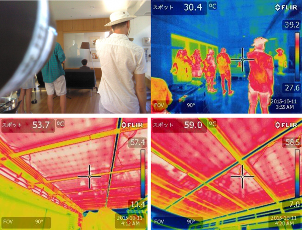 Thermal photos for the internal env and for The Bifacial PV panels